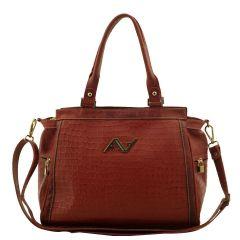 Bolsa Feminina ARZON Vermelho Escuro