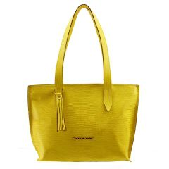 Bolsa Feminina de Couro Amarelo