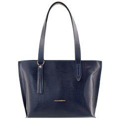 Bolsa Feminina de Couro Azul Marinho