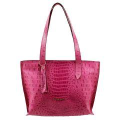 Bolsa Feminina de Couro Pink