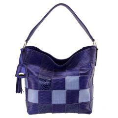 Bolsa Feminina Patchwork Azul