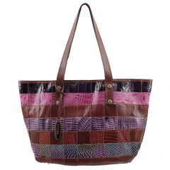 Bolsa Feminina Patchwork Bordeaux com Color