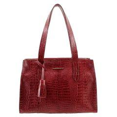Bolsa Feminina Vermelha com Carregador de Celular