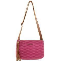 Bolsa Transversal Pequena Pink com Caramelo