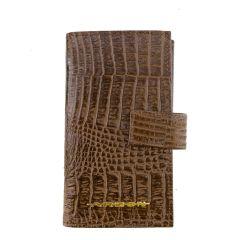 Carteira Porta-Celular Couro Chocolate