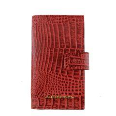 Carteira Porta-Celular Couro Vermelho
