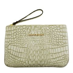 Clutch Envelope de Couro Legítimo Off White
