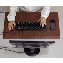 Desk Pad em Couro Chocolate
