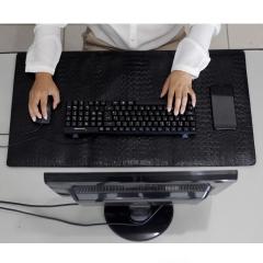 Desk Pad em Couro Preto