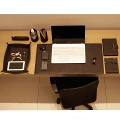 Home Office em Couro Café