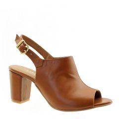 Sandal Boot de Couro Legítimo Whisky