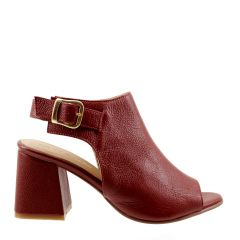 Sandal Boot em Couro Legítimo Bordeaux
