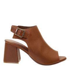 Sandal Boot em Couro Legítimo Caramelo