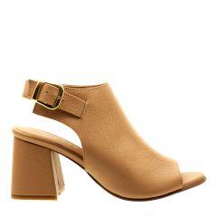 Sandal Boot em Couro Legítimo Nude