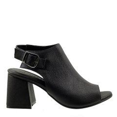 Sandal Boot em Couro Legítimo Preto