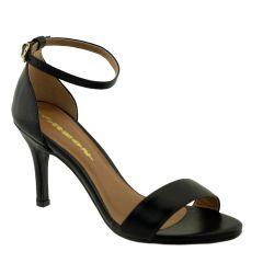 Sandália com Salto Fino Preto