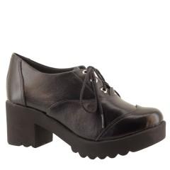 Sapato Oxford Feminino Plataforma Preto