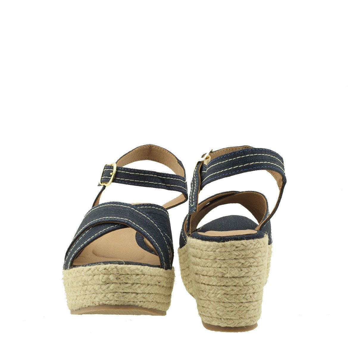 Anabela Espadrille Jeans