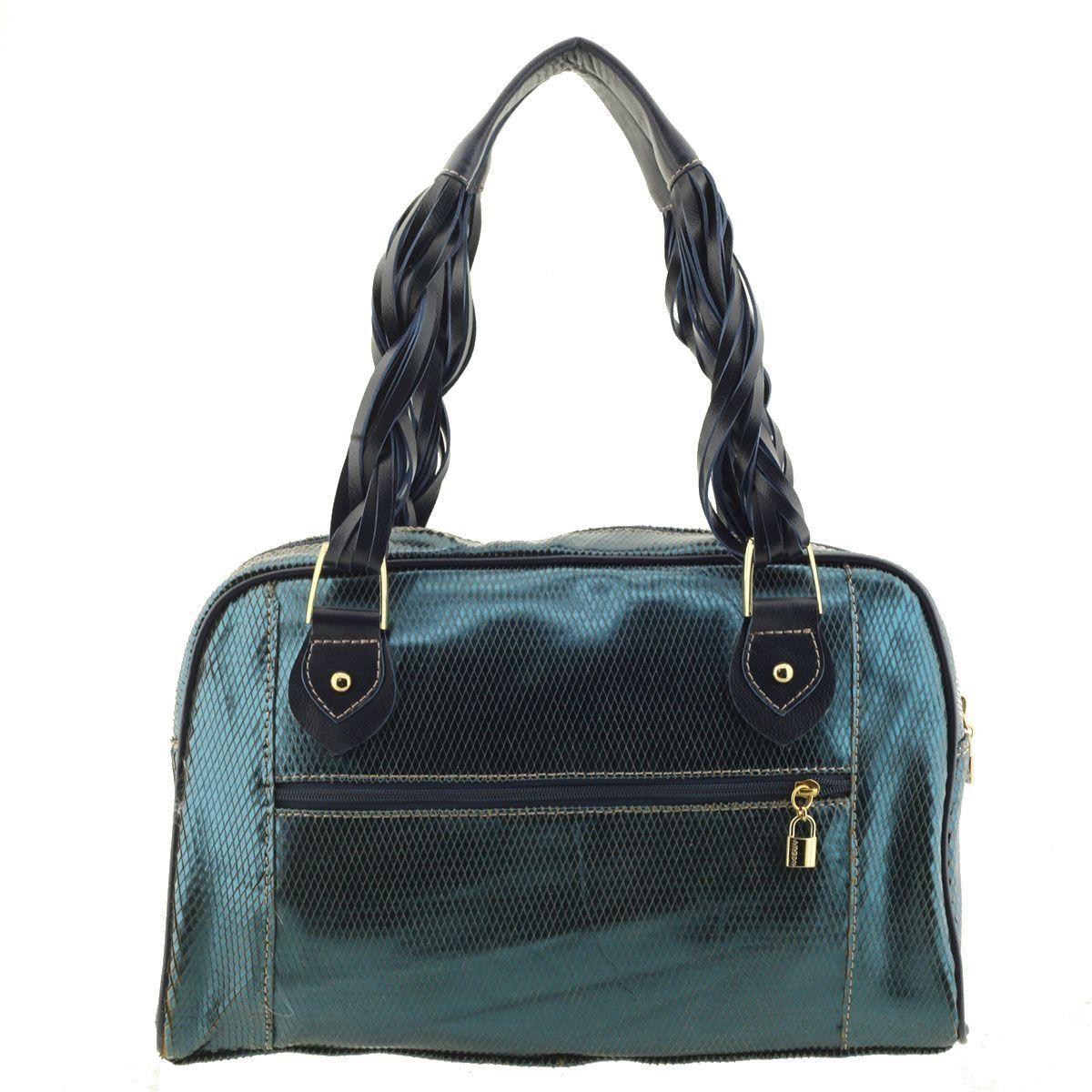 Bolsa Alça Trançada Azul