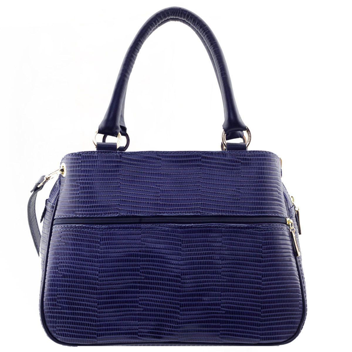 Bolsa ARZON com Divisórias Azul Marinho