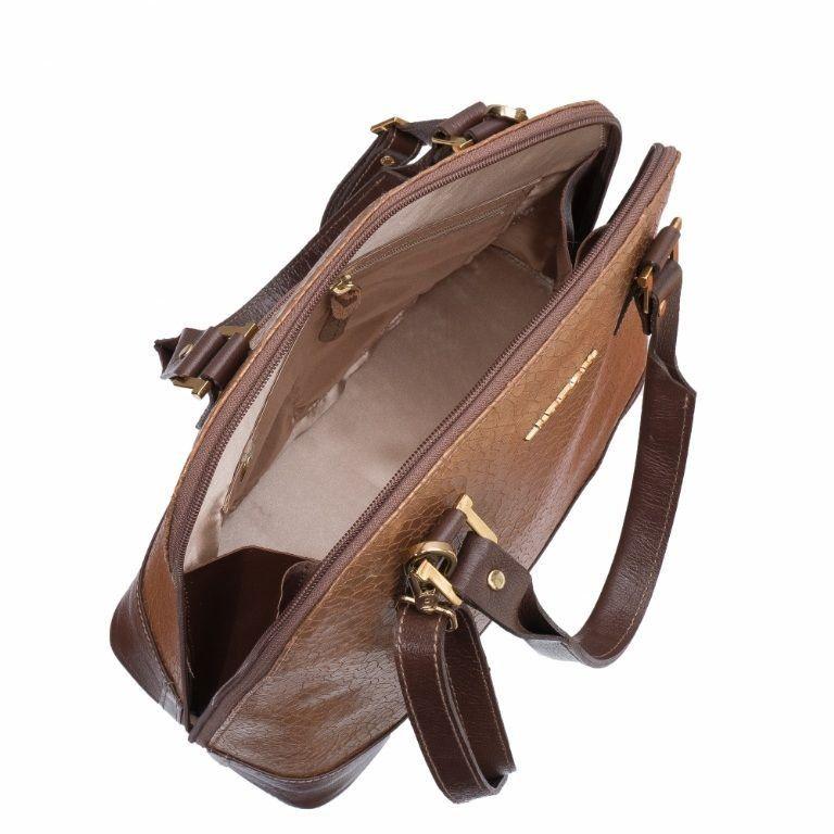 Bolsa ARZON Couro Bronze