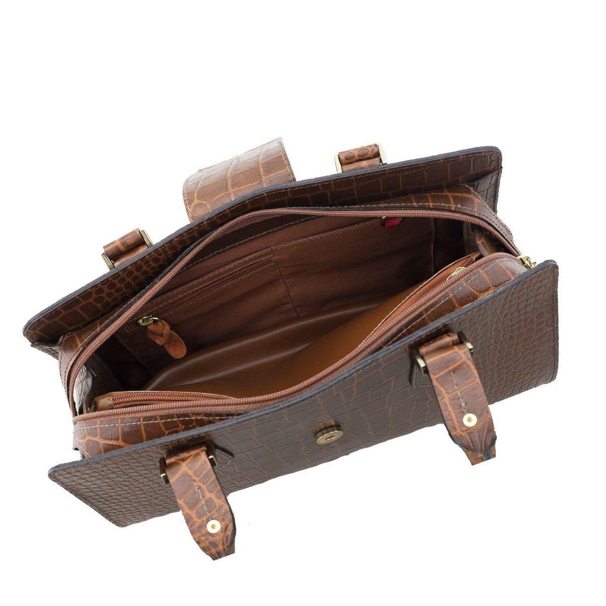 Bolsa Clássica em Couro Chocolate