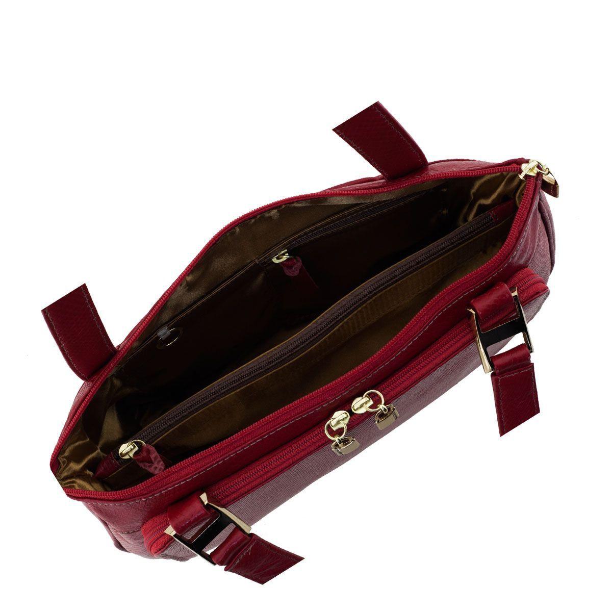 Bolsa Clássica em Couro Vermelho