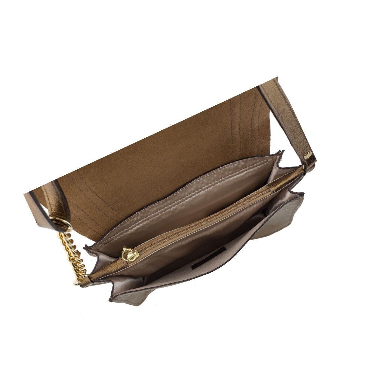 Bolsa com Alça de Corrente Dourada