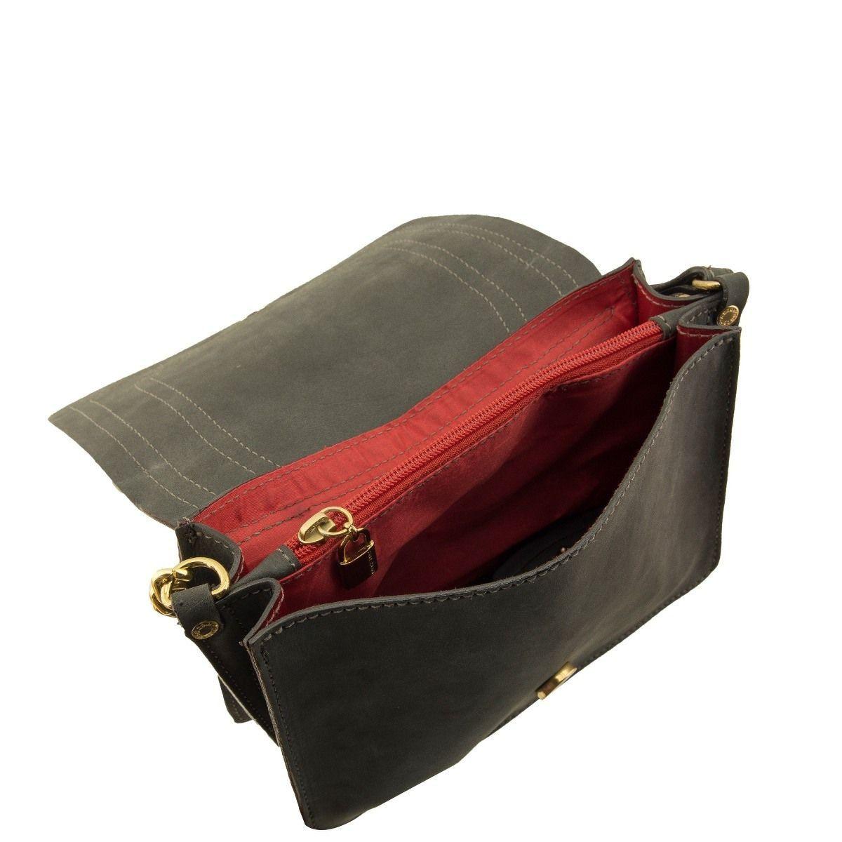 Bolsa com Alça de Corrente Preto Fosco