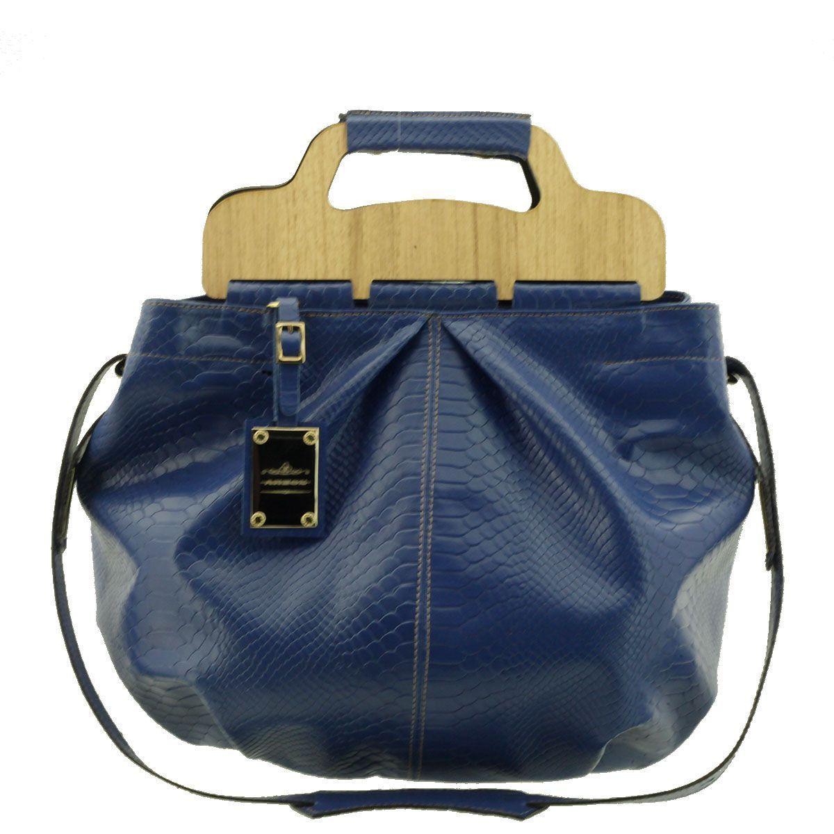 Bolsa com Alça de Mão Azul