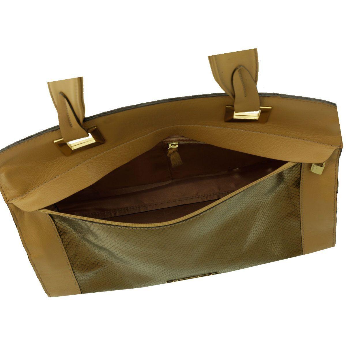 Bolsa com Alça Única Bronze