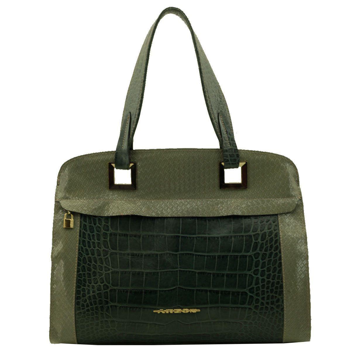 Bolsa com Alça Única Verde Escuro
