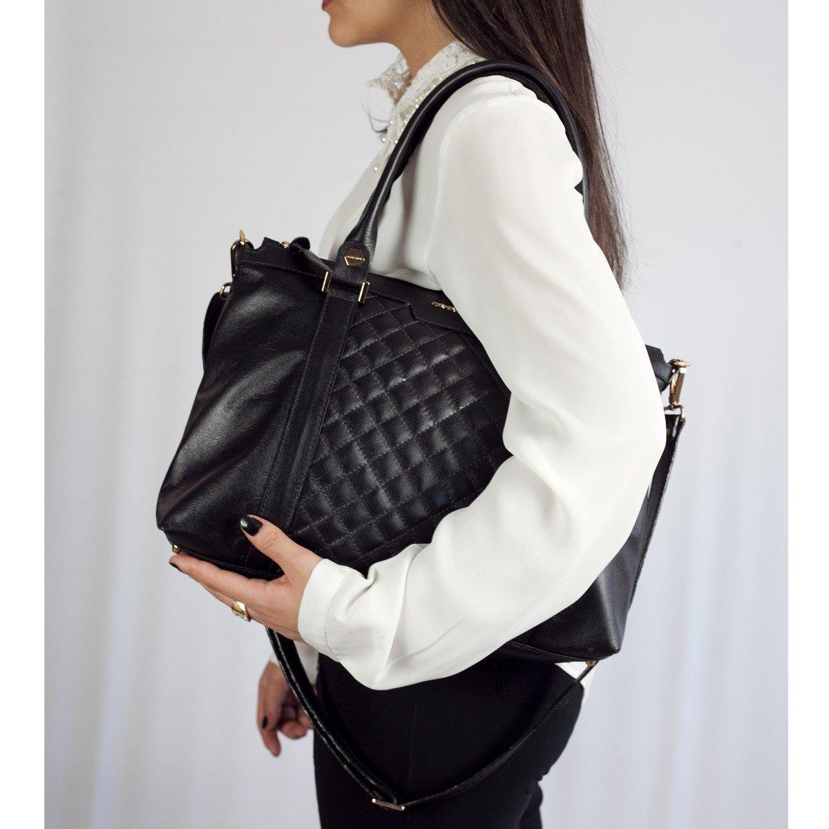 Bolsa com Pesponto ARZON Black