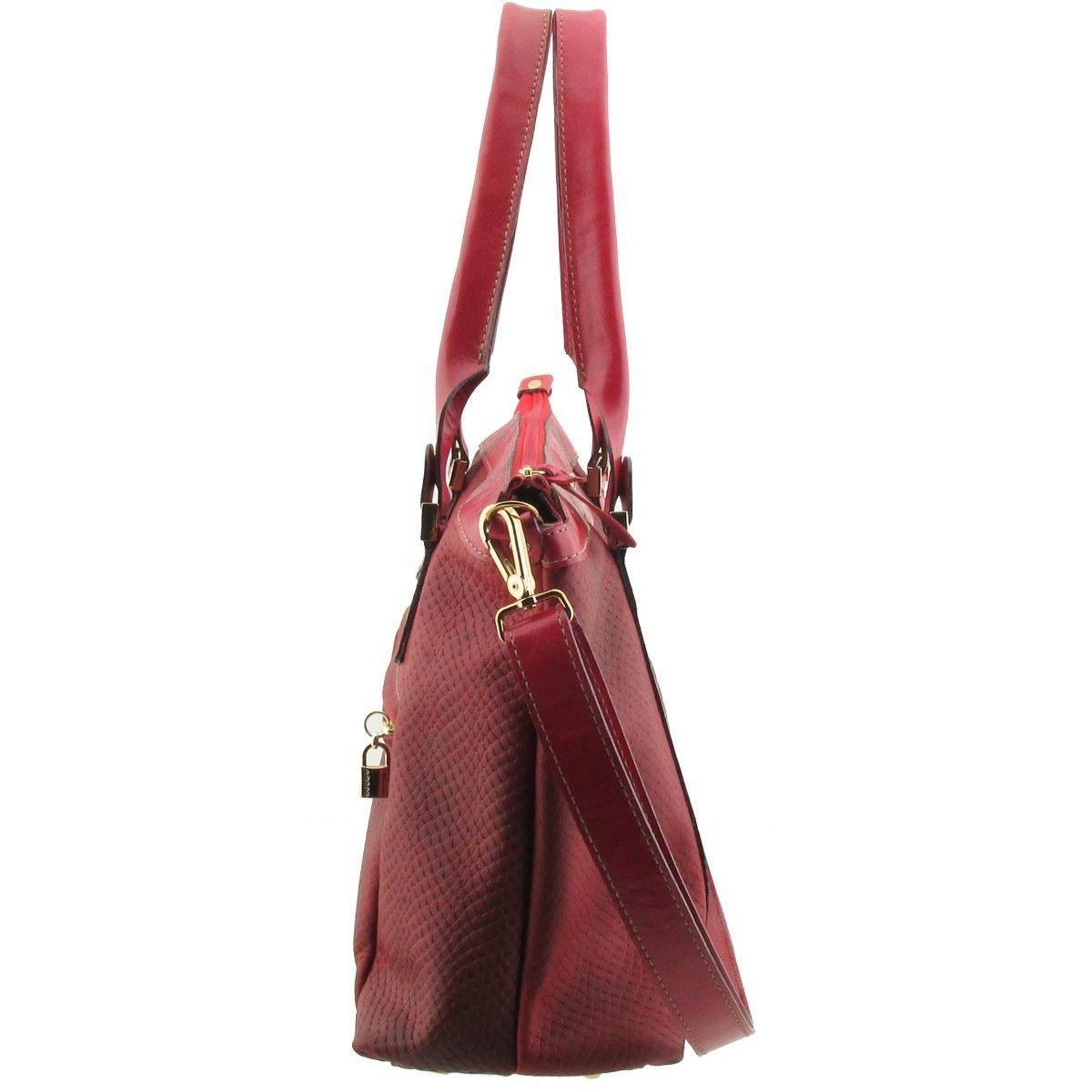 Bolsa com Pesponto ARZON Vermelha