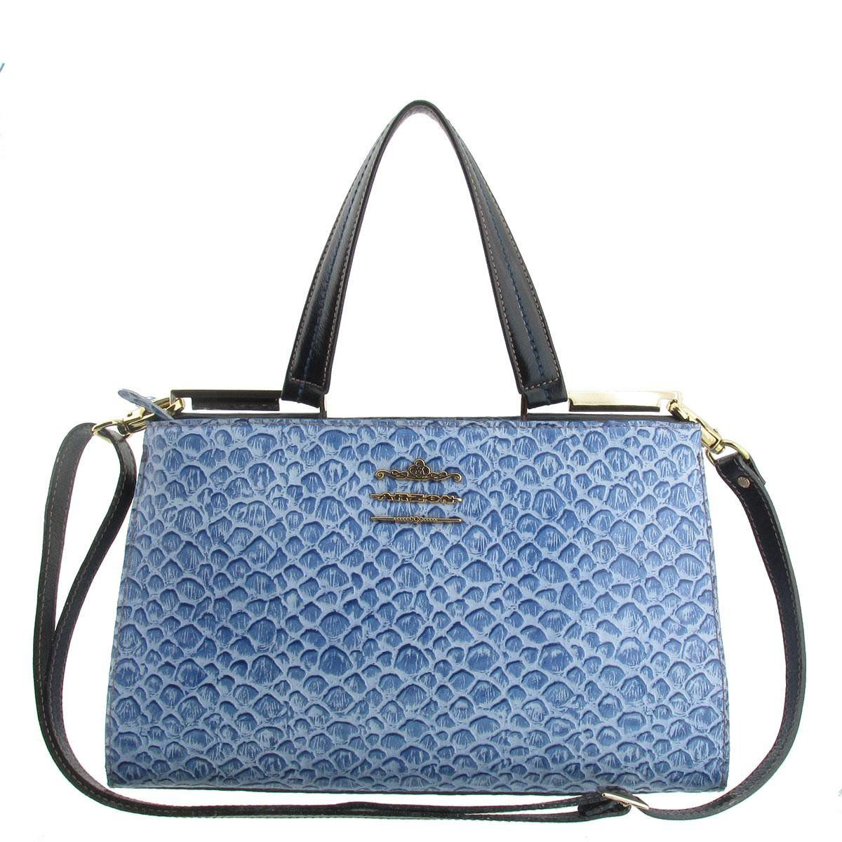 Bolsa Couro com Divisórias Azul
