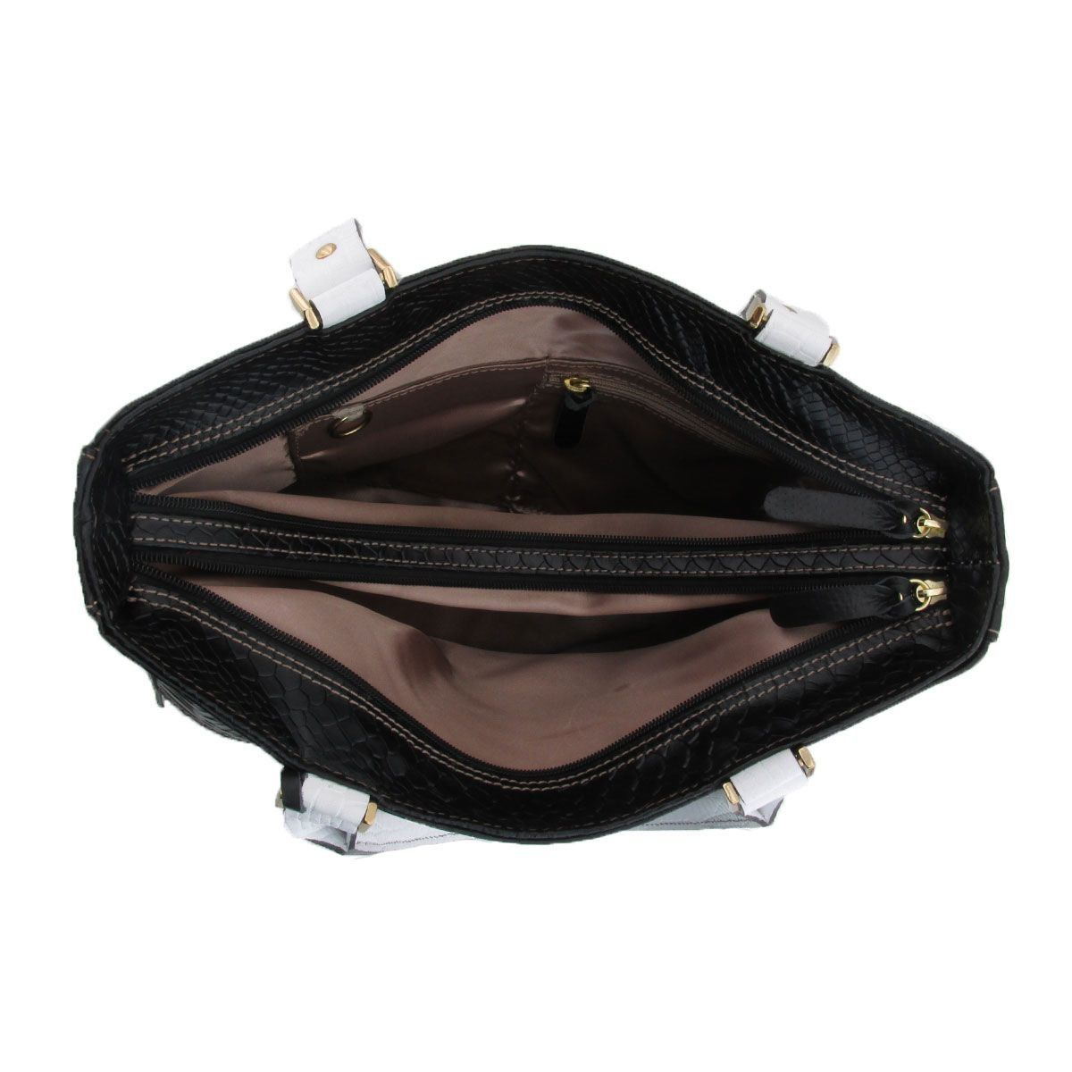 Bolsa Couro Estruturada Black