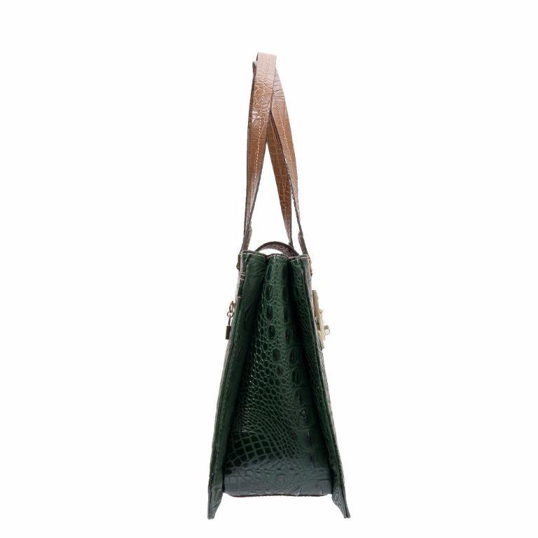 Bolsa Couro Estruturada Verde