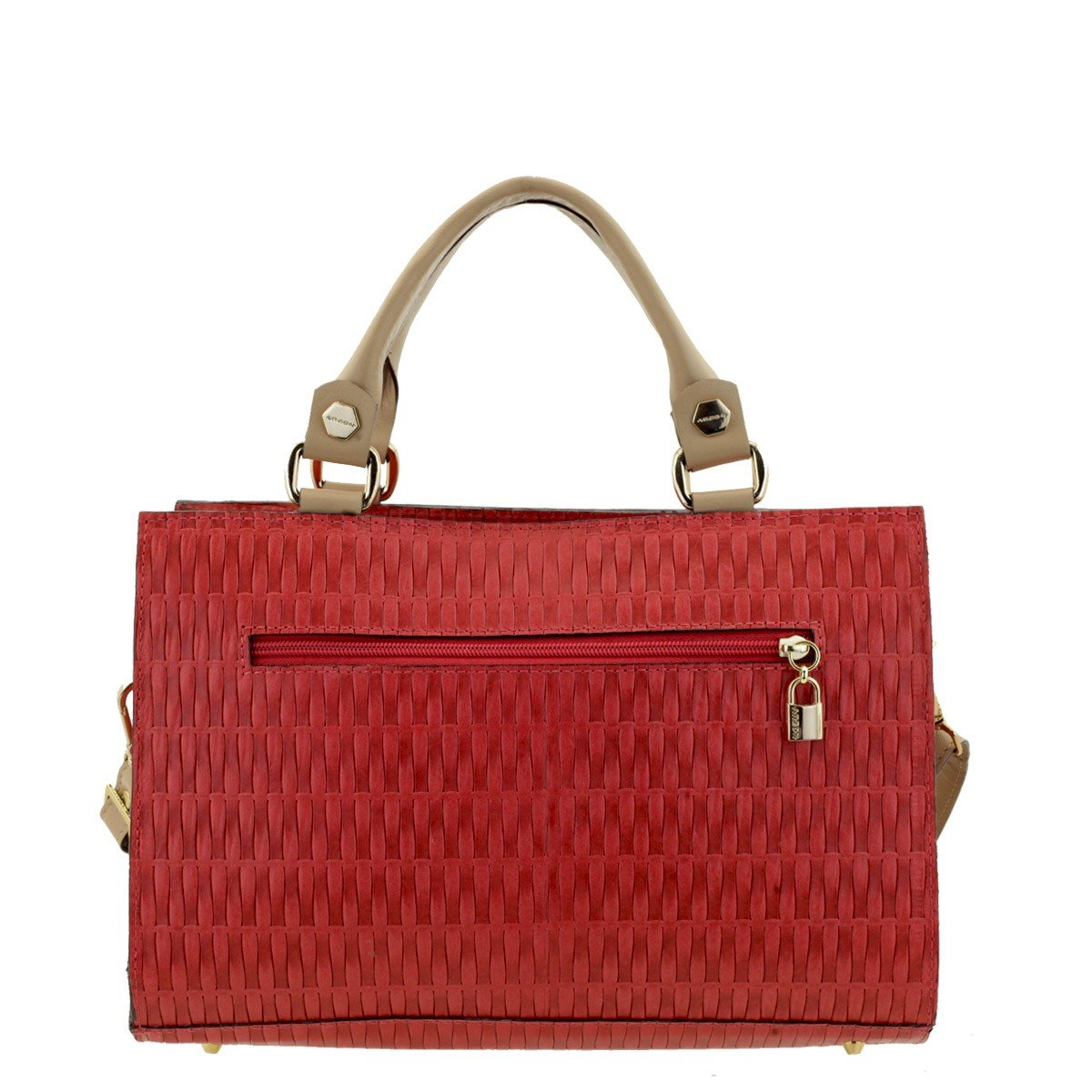 Bolsa Couro Feminina Vermelha