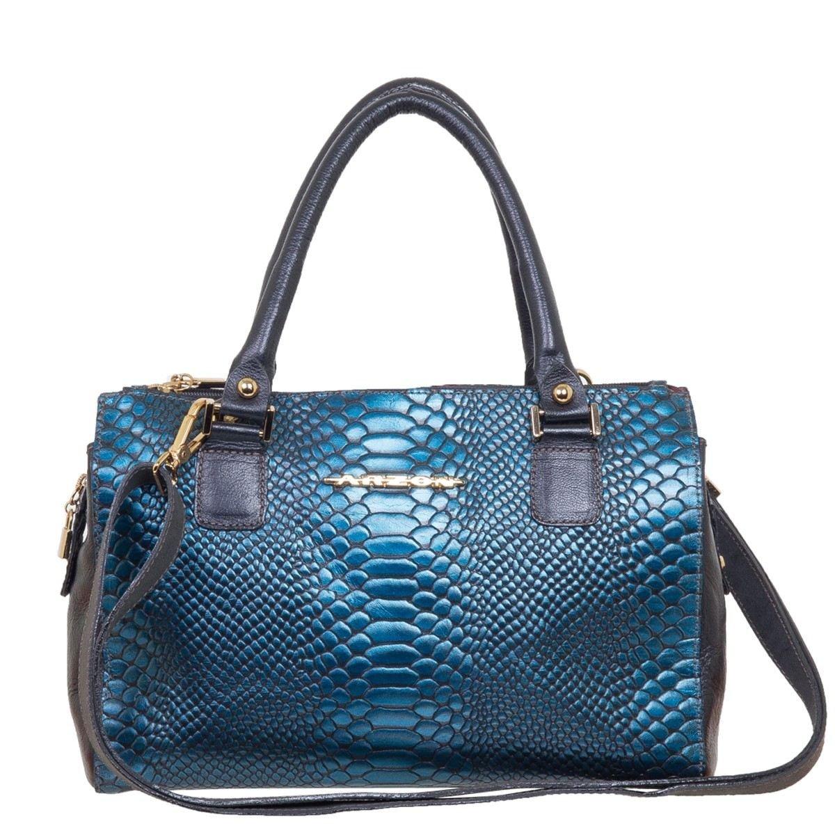Bolsa Couro Pequena Azul