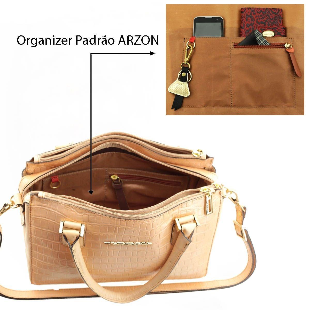 c67f070b8 ... Bolsa Couro Pequena Salmão - ARZON ...