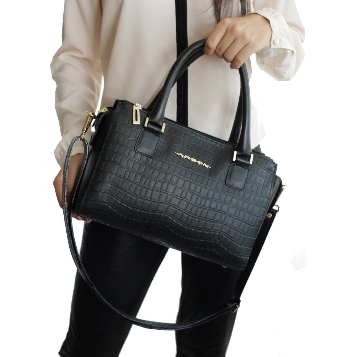 Bolsa Couro Pequena Black