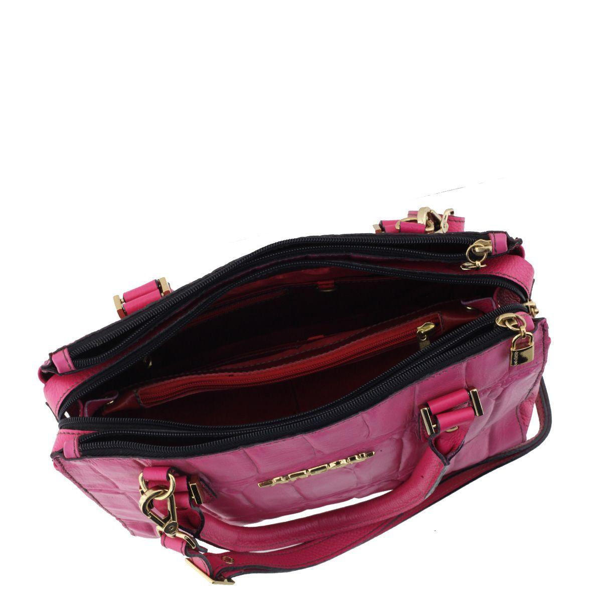 Bolsa Couro Pequena Rosa