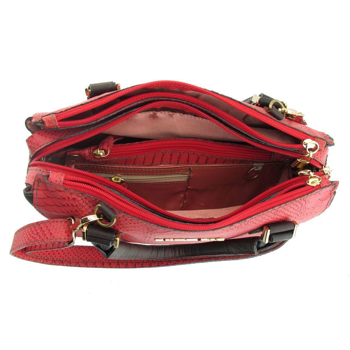 Bolsa Couro Pequena Vermelha