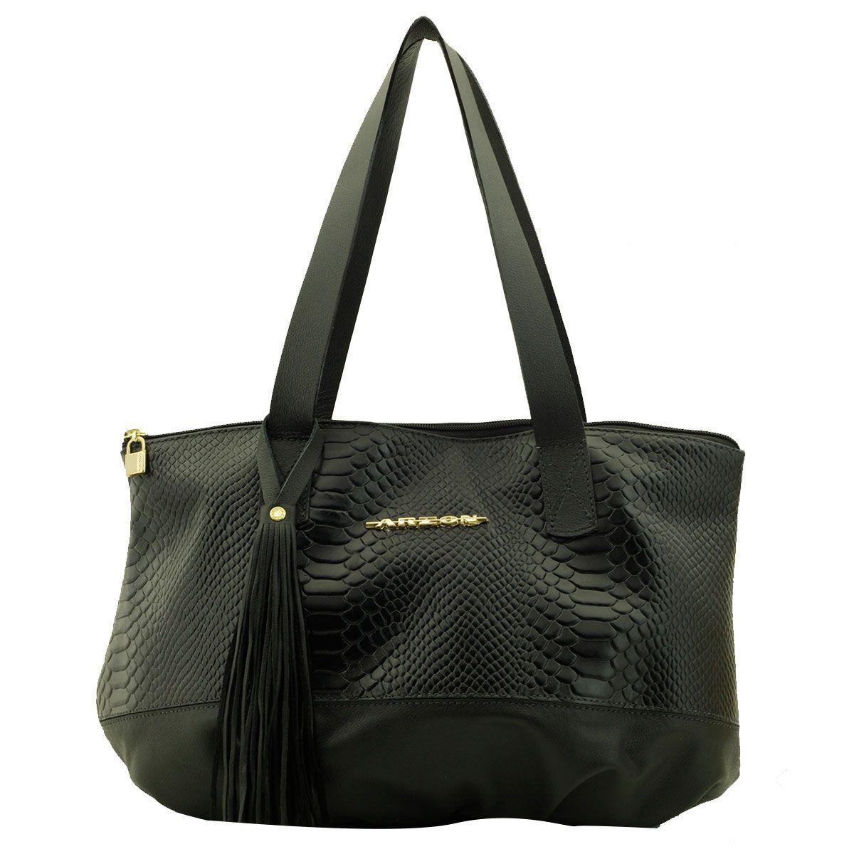 Bolsa de Couro ARZON Black