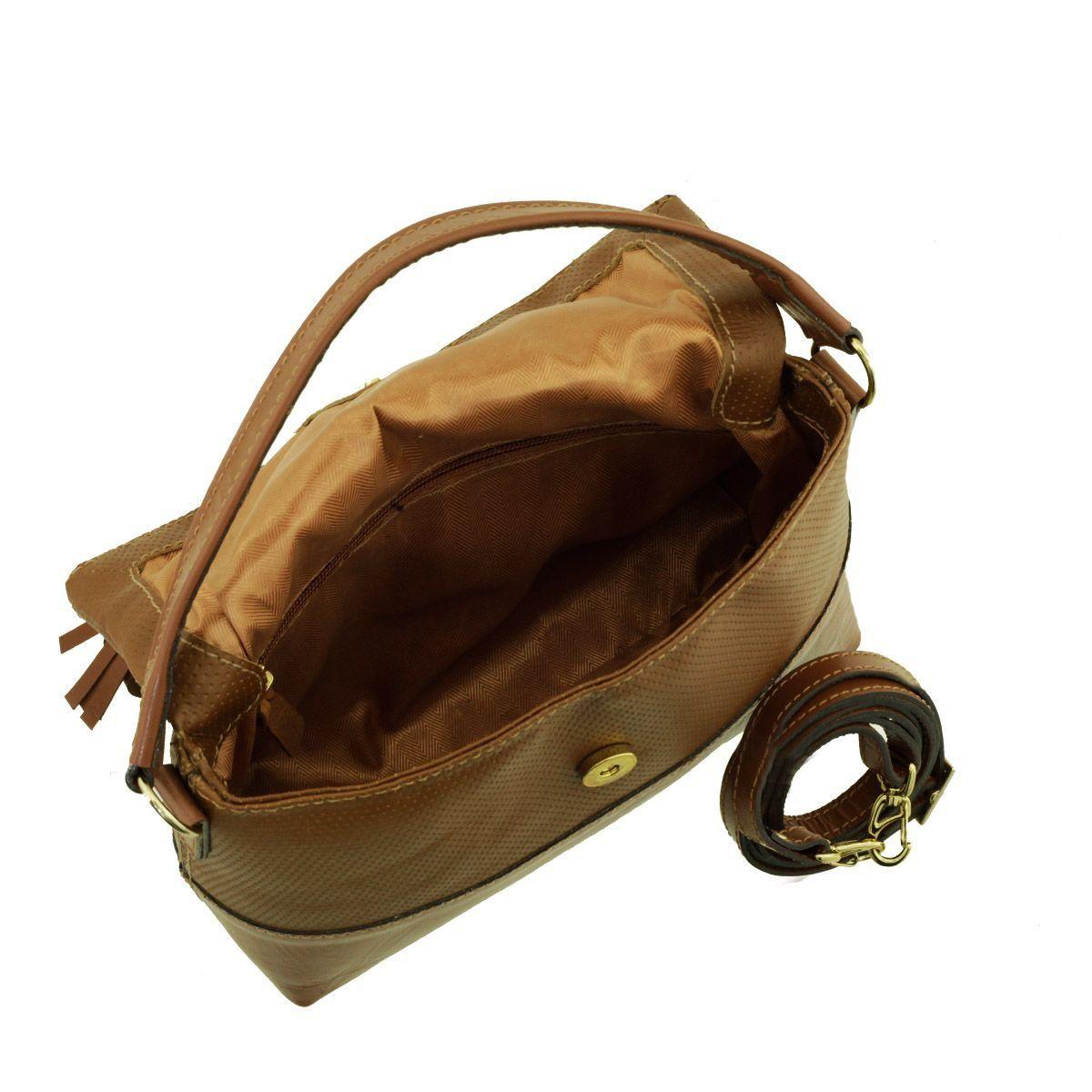 Bolsa de Mão em Couro Chocolate