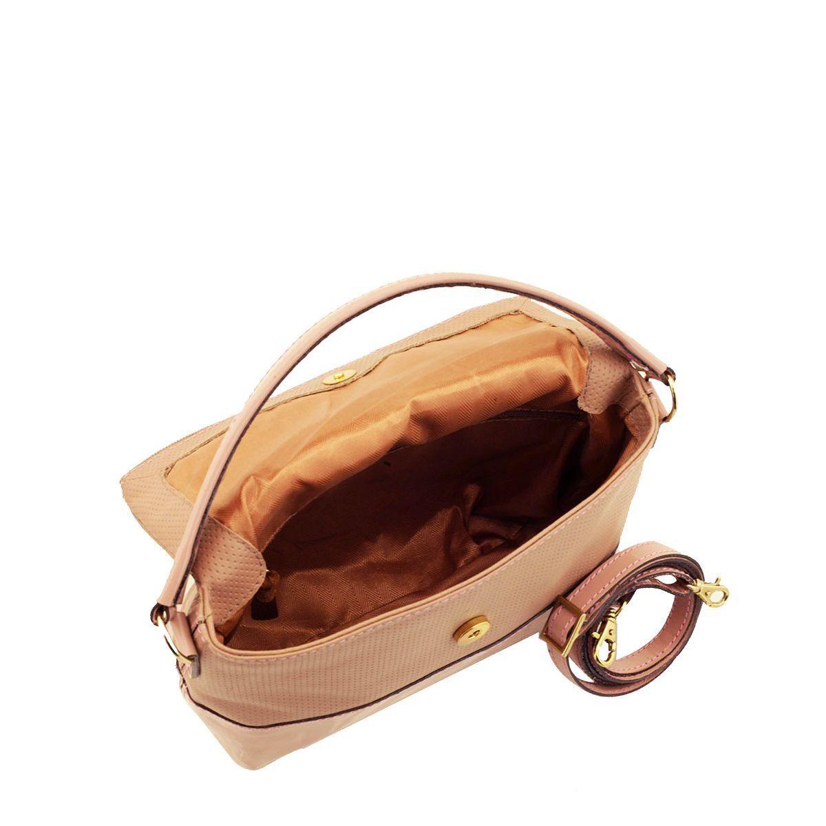 Bolsa de Mão em Couro Rosê