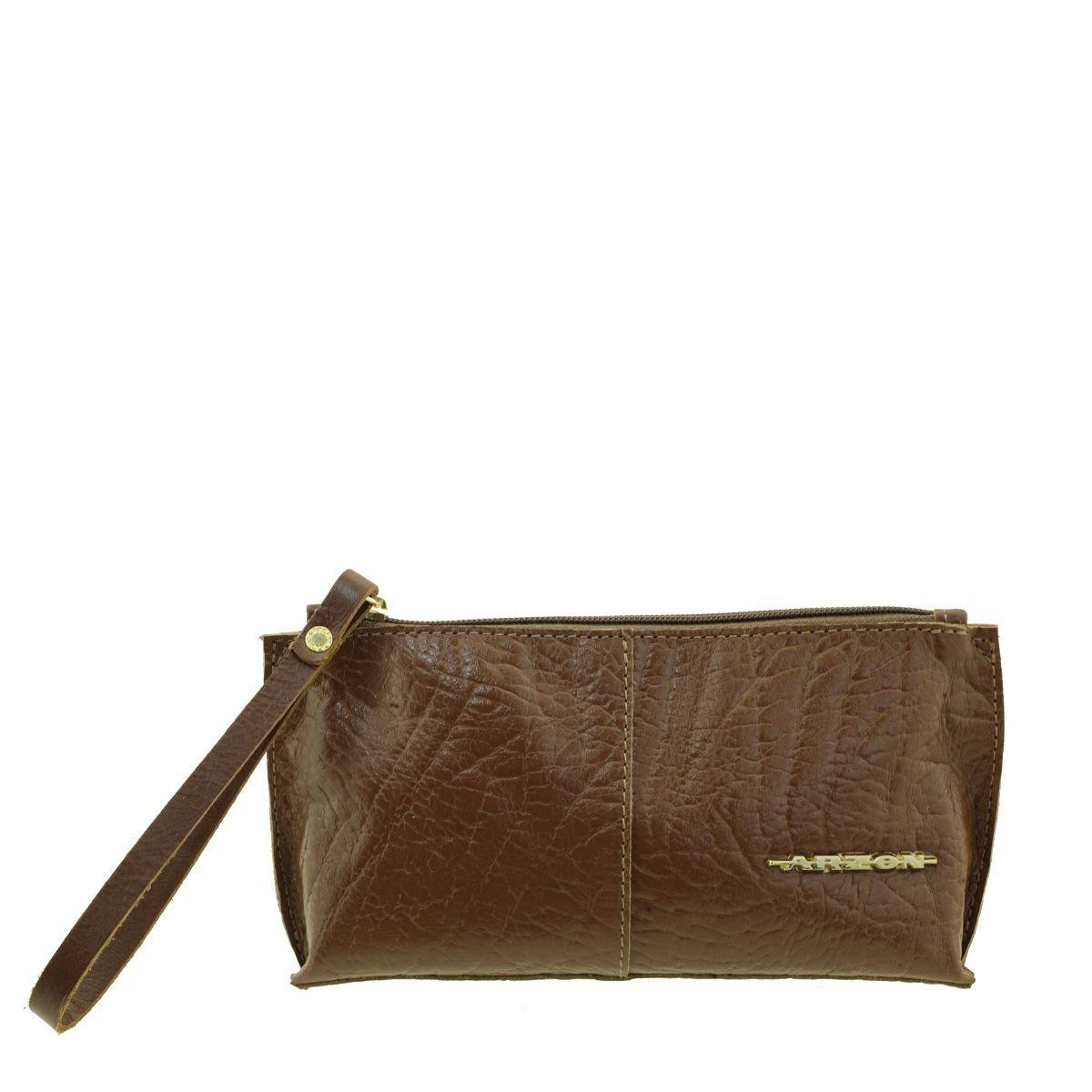 Bolsa de mão ou Necessaire com alça Marrom