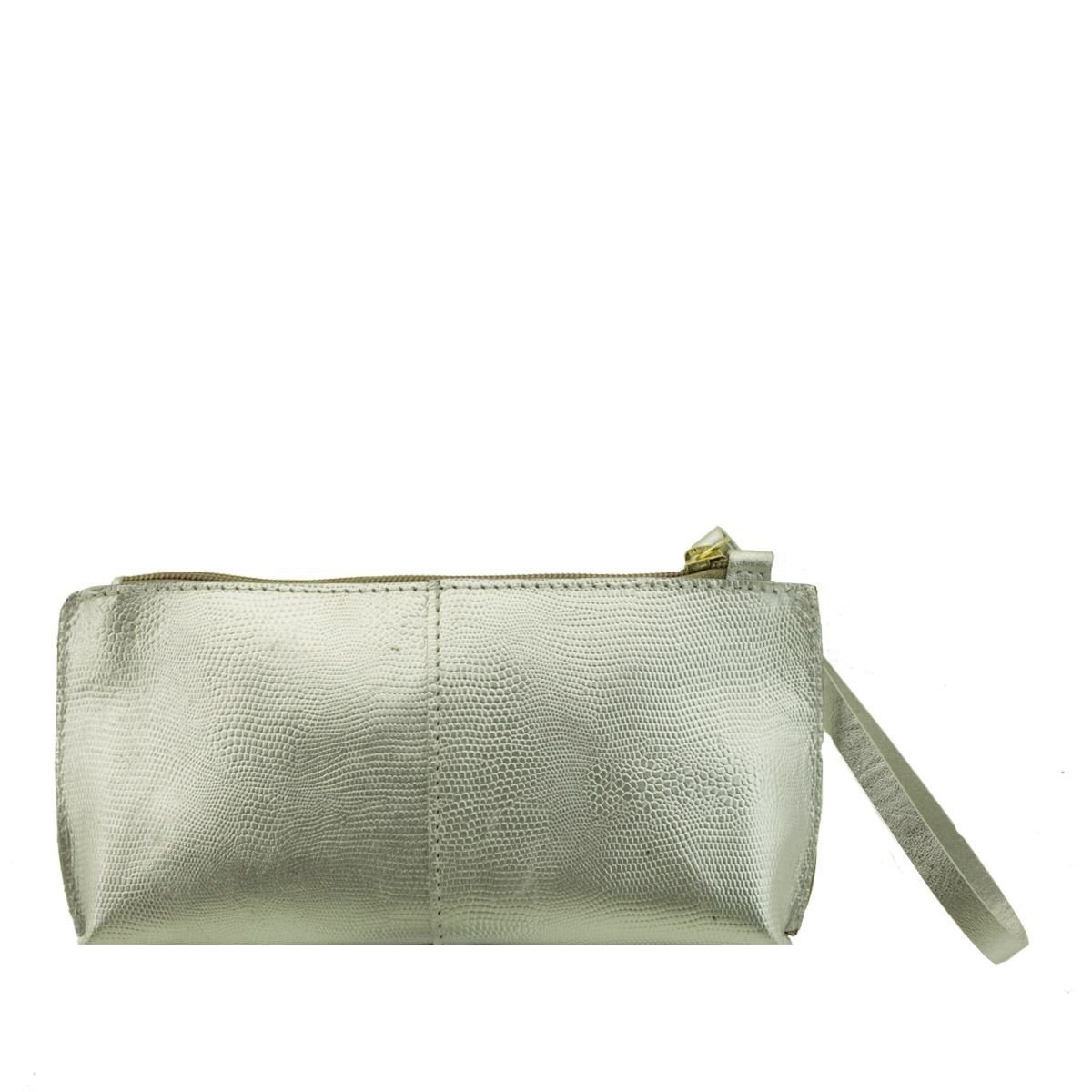 Bolsa de mão ou Necessaire com alça Prata