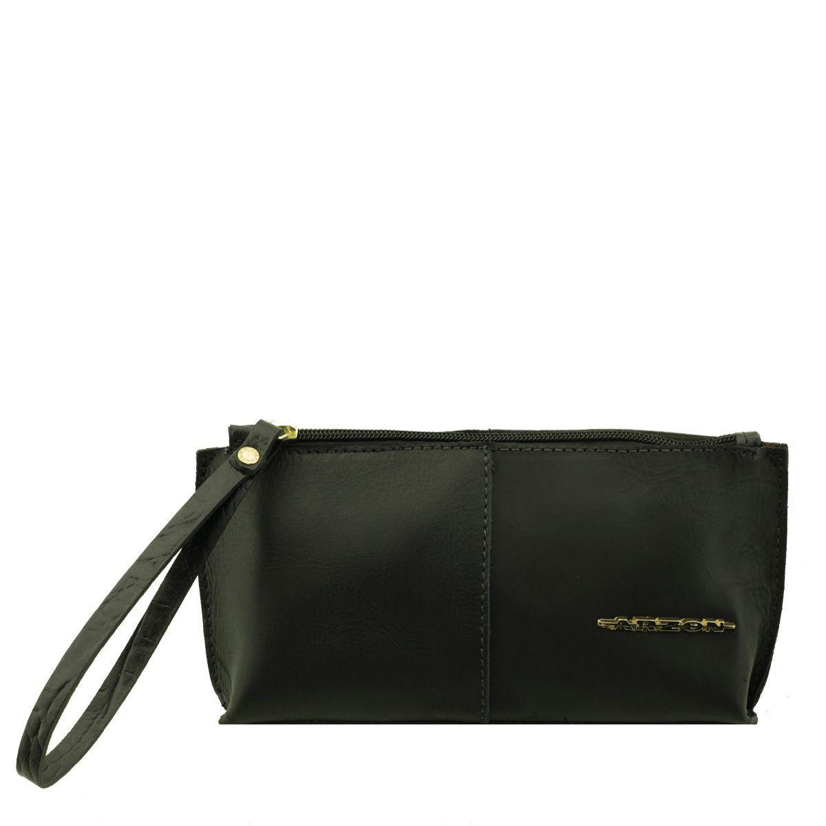 Bolsa de mão ou Necessaire com alça Preto Fosco