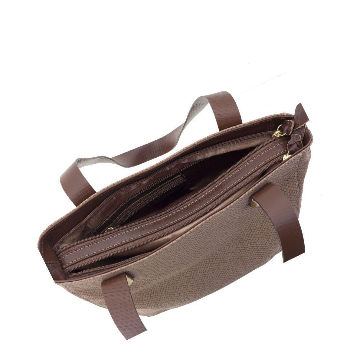 Bolsa de Couro Legitimo Chocolate